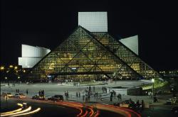 Cleveland, Ohio's Rock and Roll Hall of Fame and Museum during opening night