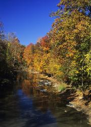 Chagrin River, Ohio on a bright autumn day