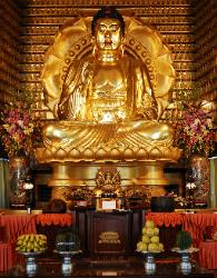 Photograph of a golden Buddha in Taiwan