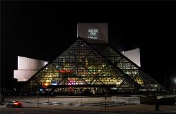 Photograph of Rock and Roll Hall of Fame and Museum Cleveland Ohio