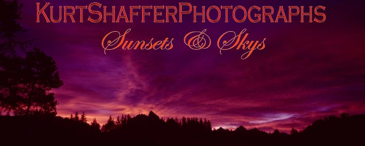 Photography of Kurt Shaffer Photographs Sunsets, skys, clouds, the moon and stars